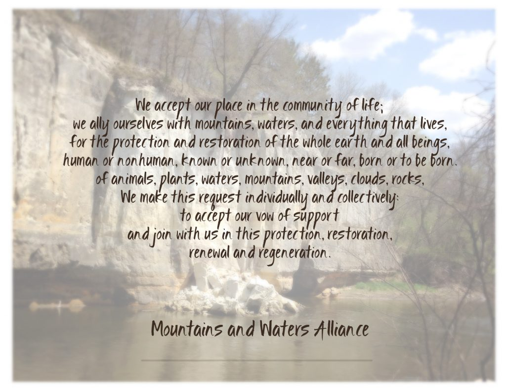 Mountain Waters Alliance Vow